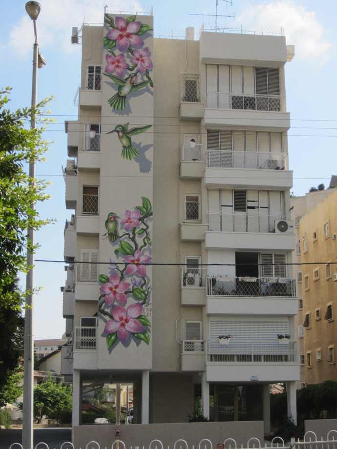ציפורים על בניין