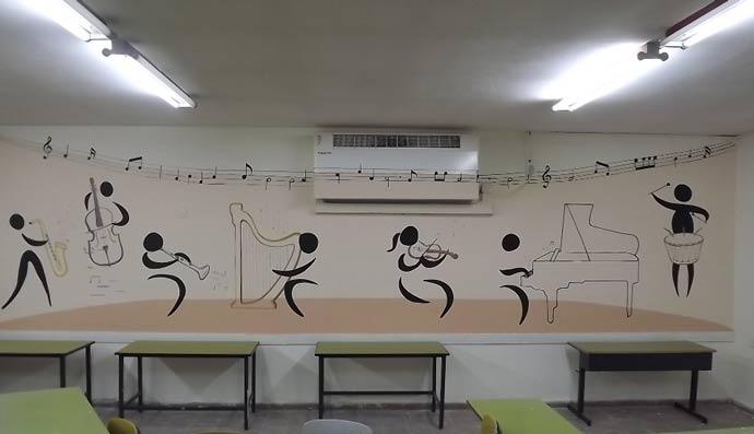 תוים בחדר מוסיקה